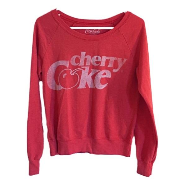 14d4d1bd6c9 Forever 21 Tops - •f o r e v e r 21• coca-cola sweatshirt (s)